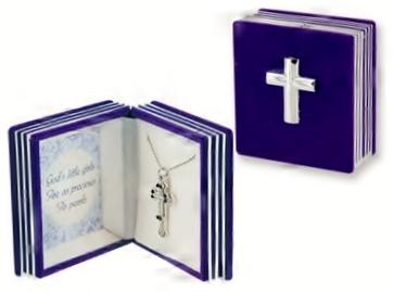 silver necklace purple