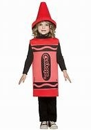 Girl in crayon suit